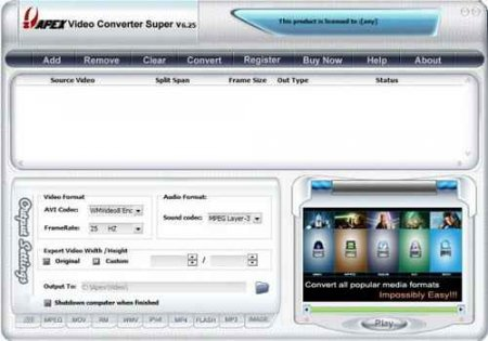 Apex Video Converter Super 7.17