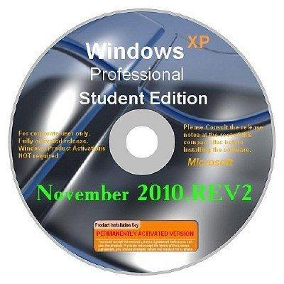 Windows XP SP3 Corporate Student Edition November 2010.REV2 (Eng + Rus LP)