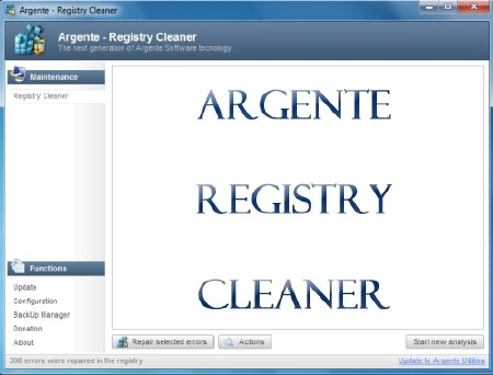 Argente Registry Cleaner 2.0.0.5