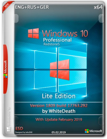 Windows 10 Pro x64 17763.292 Lite Edition v.8 by WhiteDeath (ENG+RUS+GER/2019)
