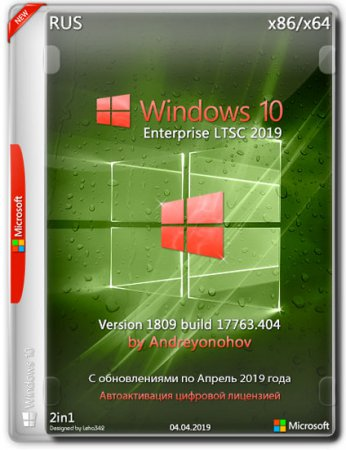 Windows 10 Enterprise LTSC x86/x64 17763.404 2in1 by Andreyonohov (RUS/2019)