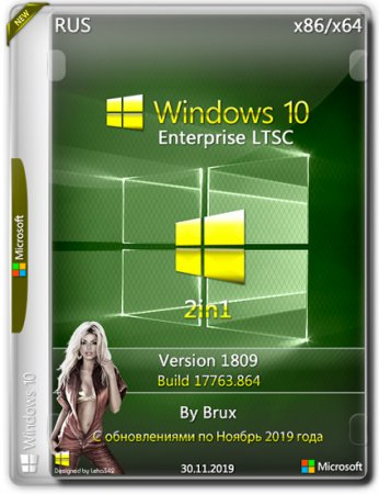 Windows 10 Enterprise LTSC x86/x64 2in1 1809.17763.864 by Brux (RUS/2019)