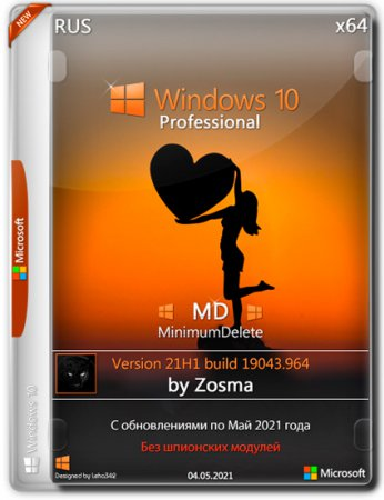 Windows 10 Pro x64 MD 21H1.19043.962 by Zosma (RUS/2021)